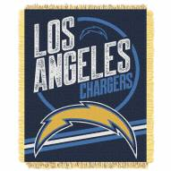 Los Angeles Chargers Read Option Woven Jacquard Throw Blanket