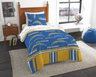 Los Angeles Chargers Rotary Twin Bed in a Bag Set