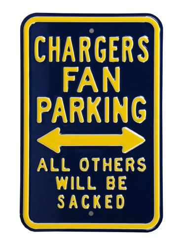 Los Angeles Chargers Sacked Parking Sign