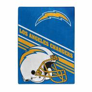 Los Angeles Chargers Slant Silk Touch Throw Blanket