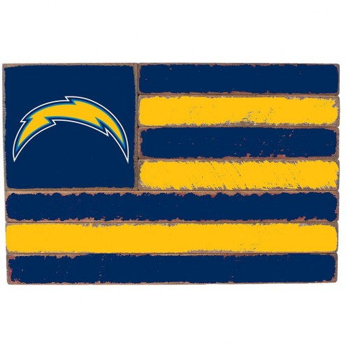 Los Angeles Chargers Small Flag Wall Art