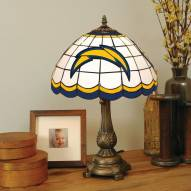 Los Angeles Chargers Stained Glass Tiffany Table Lamp