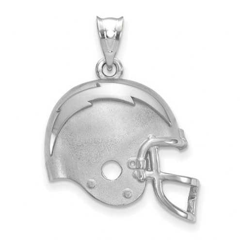 Los Angeles Chargers Sterling Silver Football Helmet Logo Pendant