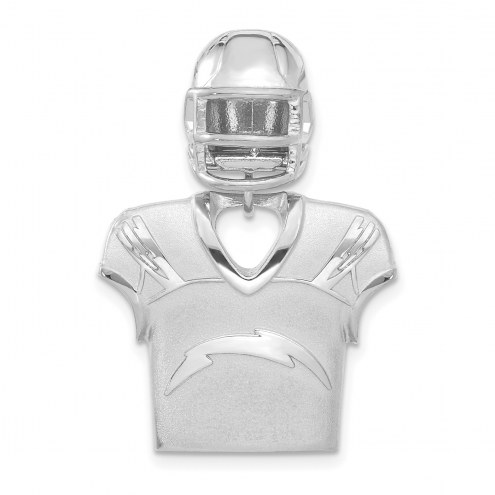 Los Angeles Chargers Sterling Silver Jersey & Helmet Pendant