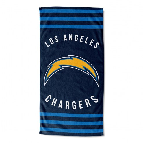 Los Angeles Chargers Stripes Beach Towel