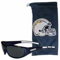 Los Angeles Chargers Sunglasses and Bag Set