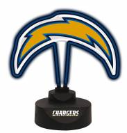 Los Angeles Chargers Team Logo Neon Light