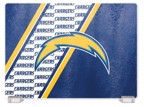 Los Angeles Chargers Tempered Glass Cutting Board