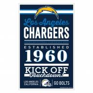 Los Angeles Chargers Established Wood Sign