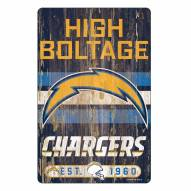Los Angeles Chargers Slogan Wood Sign