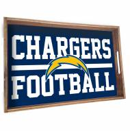 Los Angeles Chargers Wooden Serving Tray