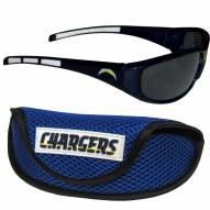 Los Angeles Chargers Wrap Sunglasses and Case Set