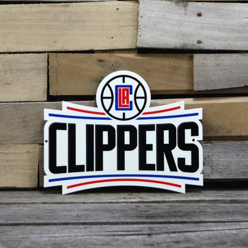 "Los Angeles Clippers 12"" Steel Logo Sign"
