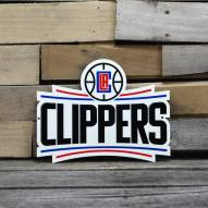 """Los Angeles Clippers 12"""" Steel Logo Sign"""