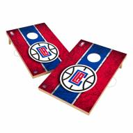 Los Angeles Clippers 2' x 3' Vintage Wood Cornhole Game