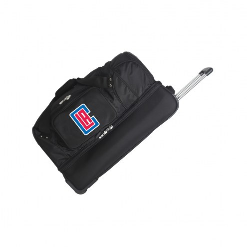 """Los Angeles Clippers 27"""" Drop Bottom Wheeled Duffle Bag"""