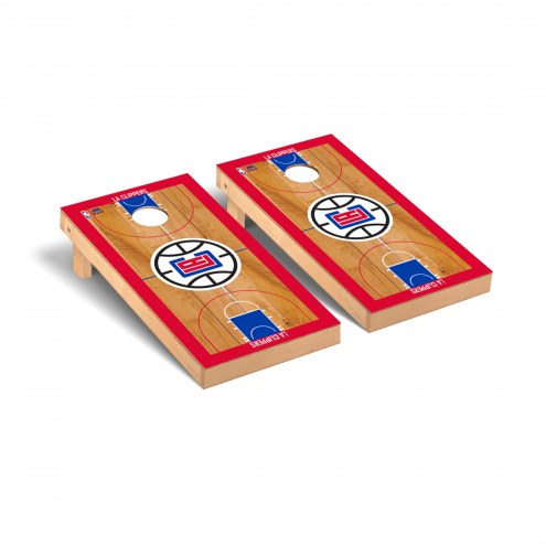 Los Angeles Clippers Basketball Court Cornhole Game Set