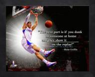 Los Angeles Clippers Blake Griffin Framed Pro Quote