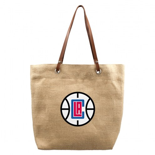 Los Angeles Clippers Burlap Market Tote