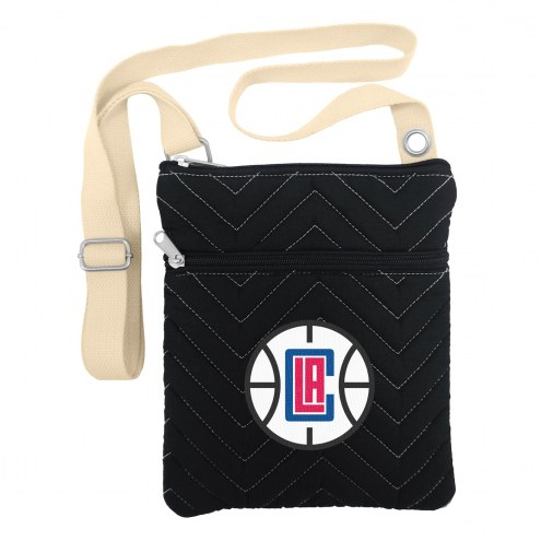 Los Angeles Clippers Chevron Stitch Crossbody Bag