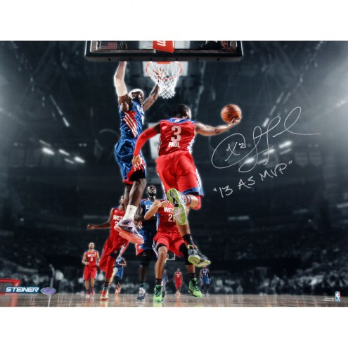 "Los Angeles Clippers Chris Paul 2013 All-Star Game w/ ""2013 AS MVP"" Signed 16"" x 20"" Photo"