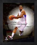 Los Angeles Clippers Chris Paul Framed Pro Quote