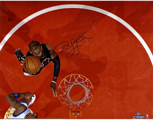 """Los Angeles Clippers Chris Paul Shoots Vs. Warriors Signed 16"""" x 20"""" Photo"""