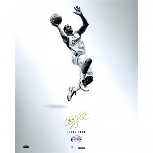 """Los Angeles Clippers Chris Paul Steiner Platinum Collection Signed 16"""" x 20"""" Photo"""