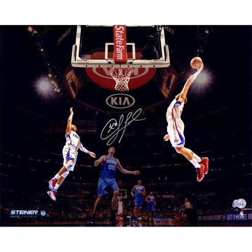 """Los Angeles Clippers Chris Paul Tossing An Ally-oop Signed 16"""" x 20"""" Photo"""
