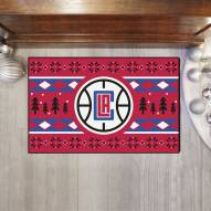 Los Angeles Clippers Christmas Sweater Starter Rug