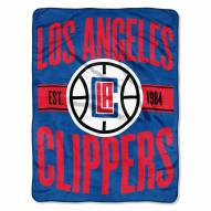 Los Angeles Clippers Clear Out Throw Blanket