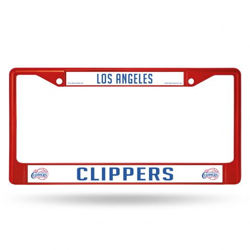 Los Angeles Clippers Color Metal License Plate Frame