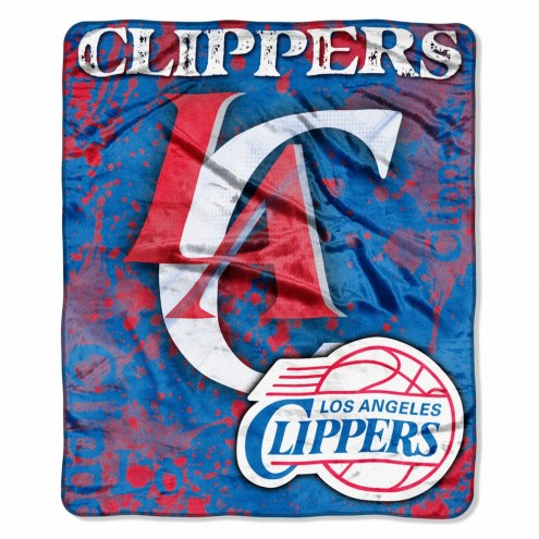Los Angeles Clippers Drop Down Raschel Throw Blanket