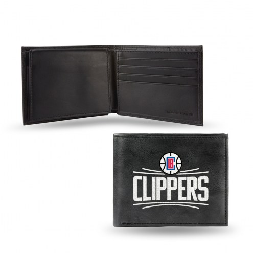 Los Angeles Clippers Embroidered Leather Billfold Wallet