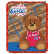 Los Angeles Clippers Half Court Baby Blanket