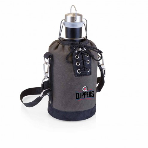 Los Angeles Clippers Insulated Growler Tote with 64 oz. Stainless Steel Growler