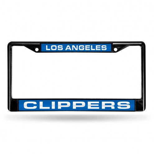 Los Angeles Clippers Laser Black License Plate Frame
