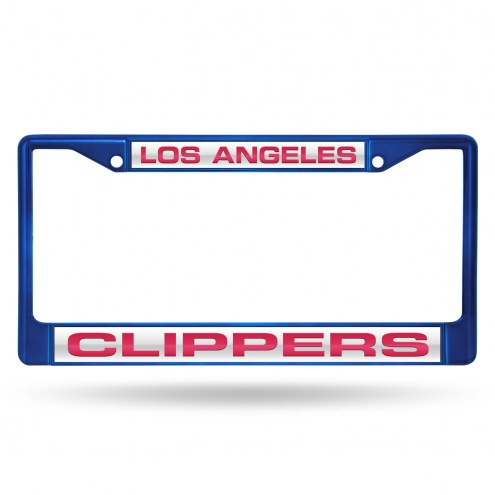 Los Angeles Clippers Laser Colored Chrome License Plate Frame