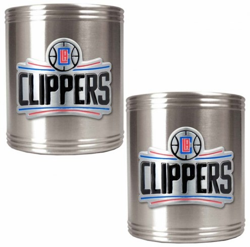 Los Angeles Clippers NBA Stainless Steel Can Holder 2-Piece Set