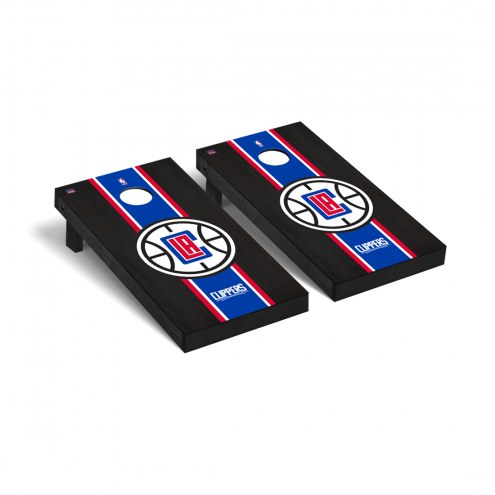 Los Angeles Clippers Onyx Stained Cornhole Game Set