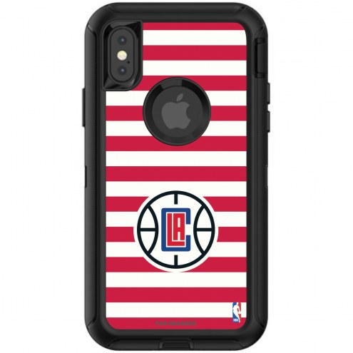 Los Angeles Clippers OtterBox iPhone X/Xs Defender Stripes Case