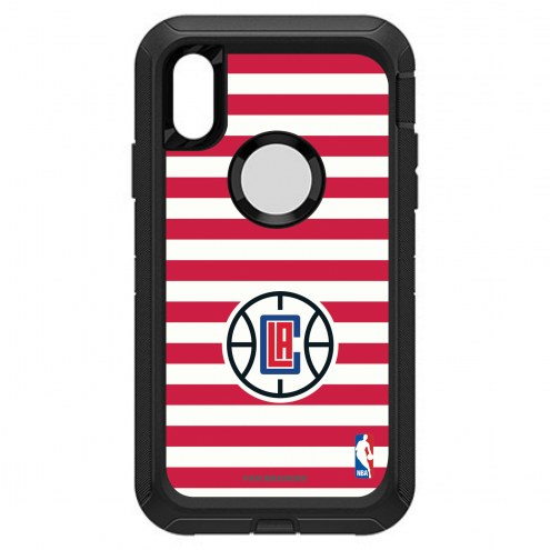 Los Angeles Clippers OtterBox iPhone XR Defender Stripes Case