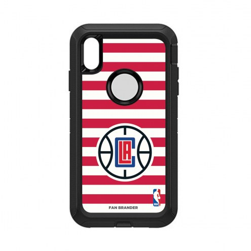 Los Angeles Clippers OtterBox iPhone XS Max Defender Stripes Case