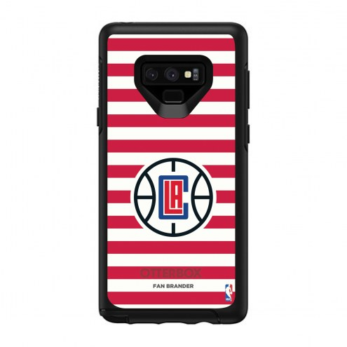 Los Angeles Clippers OtterBox Samsung Galaxy Note9 Symmetry Stripes Case