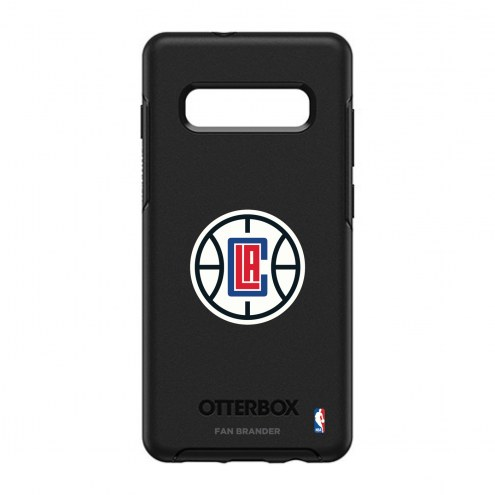 Los Angeles Clippers OtterBox Samsung Galaxy S10+ Symmetry Black Case