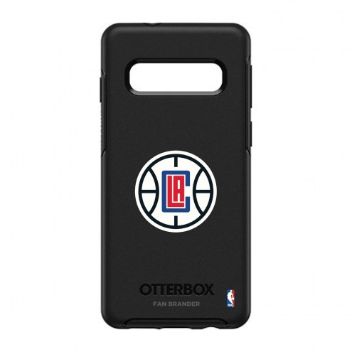 Los Angeles Clippers OtterBox Samsung Galaxy S10 Symmetry Black Case