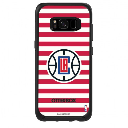 Los Angeles Clippers OtterBox Samsung Galaxy S8 Symmetry Stripes Case