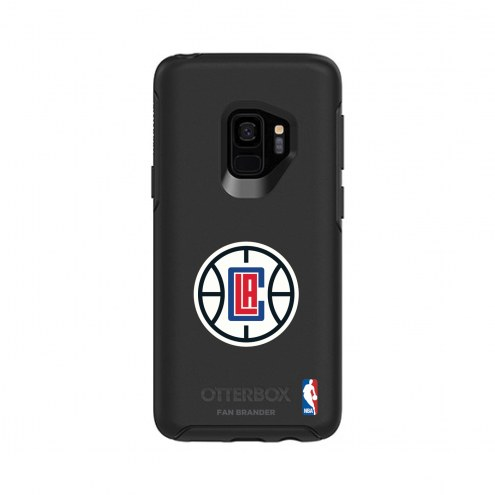 Los Angeles Clippers OtterBox Samsung Galaxy S9 Symmetry Black Case