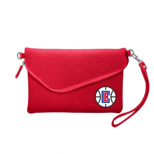 Los Angeles Clippers Pebble Fold Over Purse