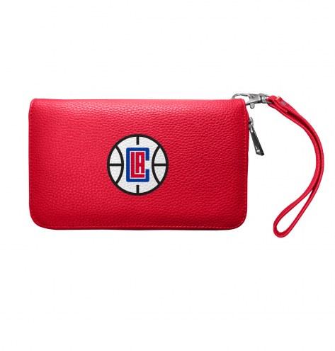 Los Angeles Clippers Pebble Organizer Wallet